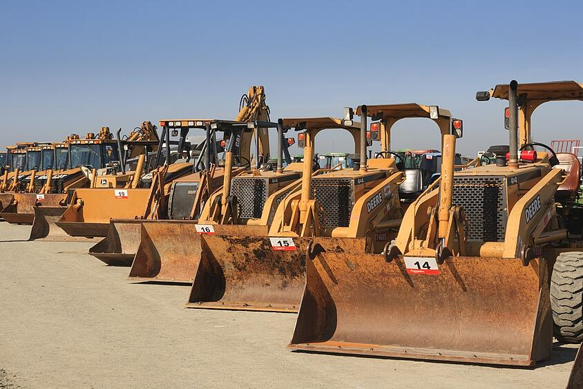 Several Bulldozers Lined Up For Auction